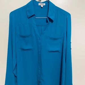 Express aqua blue portofino shirt.